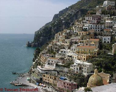 Positano - view over harbor